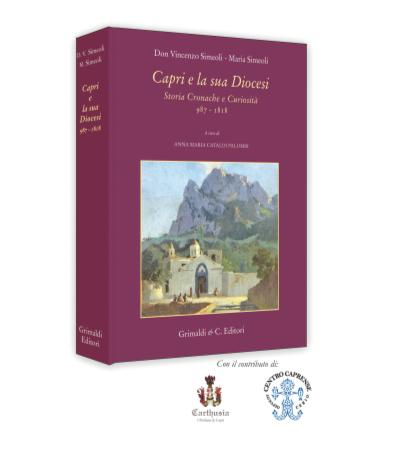 """Al Grand Hotel Quisisana la presentazione del libro """"Capri e la sua Diocesi"""" autori Don Vincenzo Simeoli e la dott.ssa Maria Simeoli"""