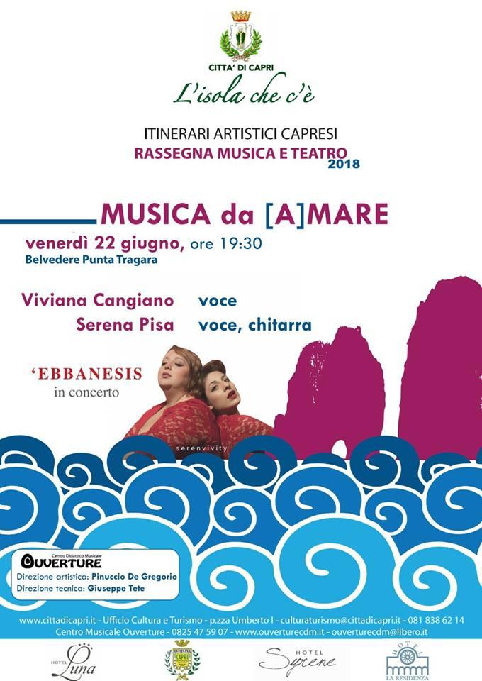 """Capri. Ebbanesis in Concerto in """"Musica da [A]Mare"""