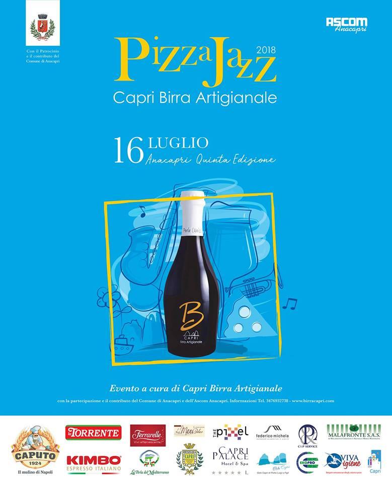 """Capri. Tutto pronto per il  """"Pizza Jazz Birra Artigianale 2018"""" Il programma completo"""