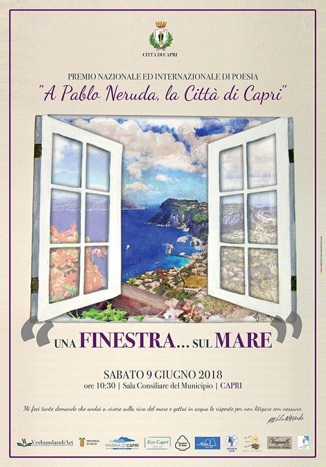 """Capri. Al via il Premio di Poesia Internazionale """"Una Finestra sul Mare"""""""