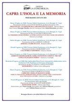 Capri: L'isola e la Memoria il programma dell' estate 2018 curato delle Edizioni la Conchiglia