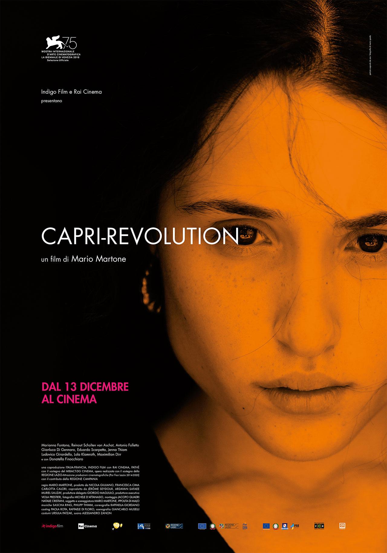 """""""Capri Revolution""""  il Poster del Film di Martone in concorso al Festival del Cinema di Venezia"""