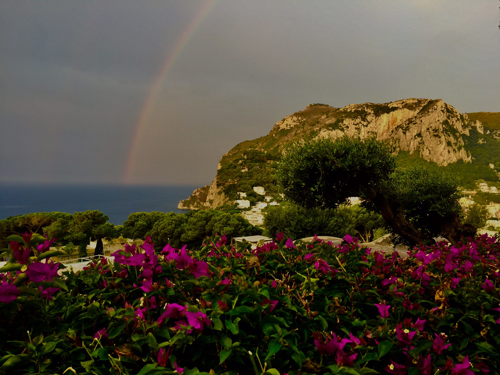Capri si sveglia con L'Arcobaleno ( LA FOTO DI OGGI)