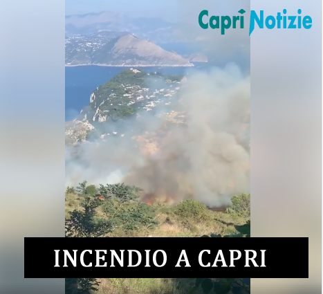 Capri. Incendio sul Monte Solaro i video dal fronte del fuoco (VIDEO)