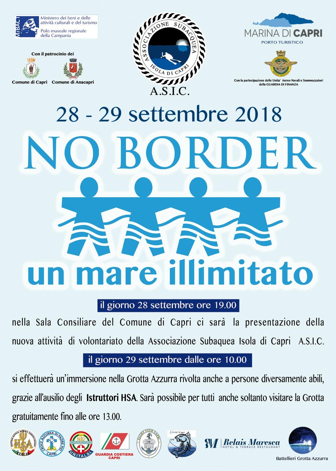 Capri. Presentazione della nuova attività di  volontariato del' Assoc. Subaquea Isola di Capri