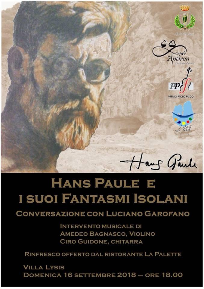 """Capri. A Villa Lysis """"Hans Paule e i Suoi Fantasmi Isolani"""" Conversazioni e Musica"""