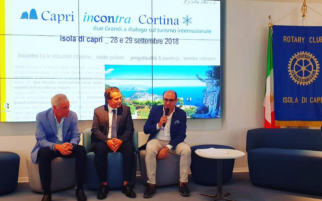 Capri e Cortina, nuovo incontro promosso dal Rotary Club di Capri (FOTO)