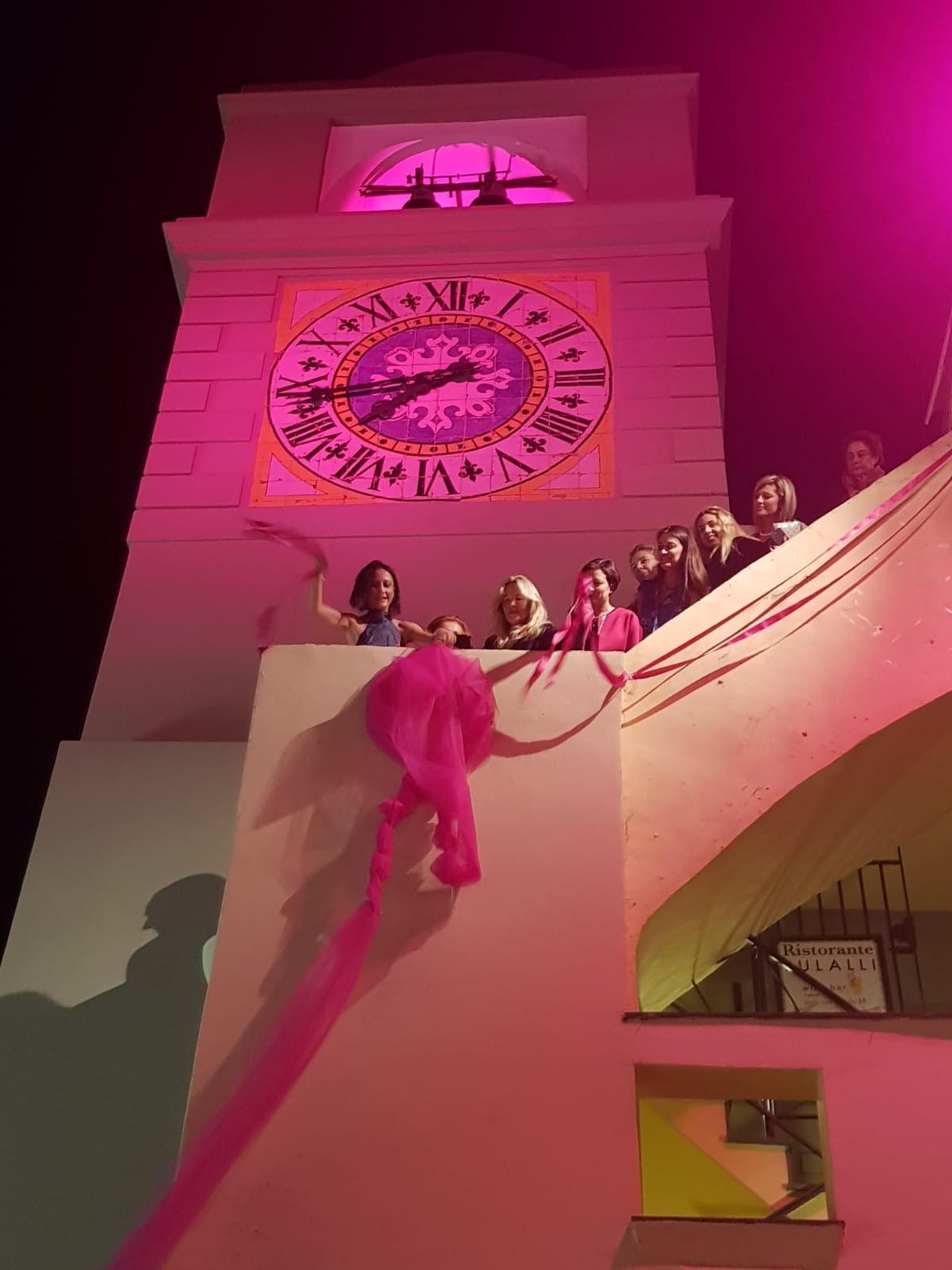 """Mandia, Ambasciatrice della Lilt, sbarca a Capri per la prima volta con il suo format """"It's Pink Time :la prevenzione è glamour""""."""