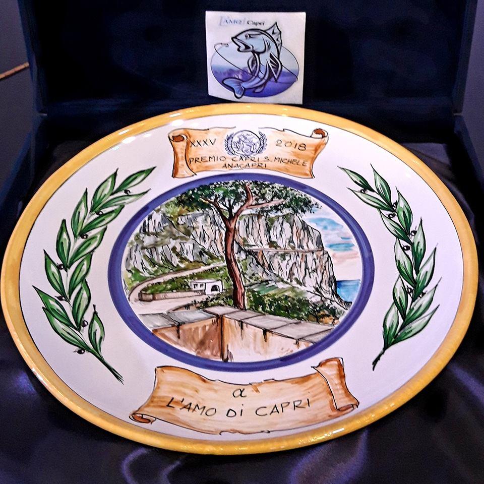 """Premio """"Anacapri"""" Capri San Michele all' Associazione L' Amo di Capri"""