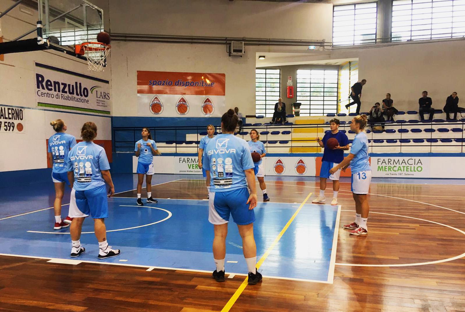 Capri. Primo successo del Riccio_Isaia Olimpia Capri di Basket Femminile sul campo del Basket Salerno per 52-55