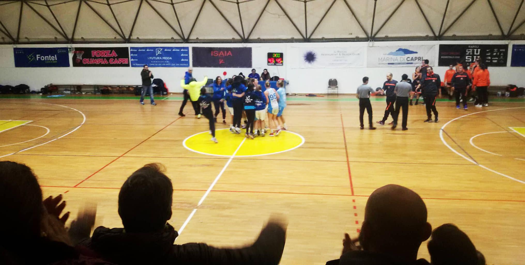 L'Olimpia Capri Basket Femminile Vince la combattuta partita casalinga contro la Givova Ladies Scafati per 45-53