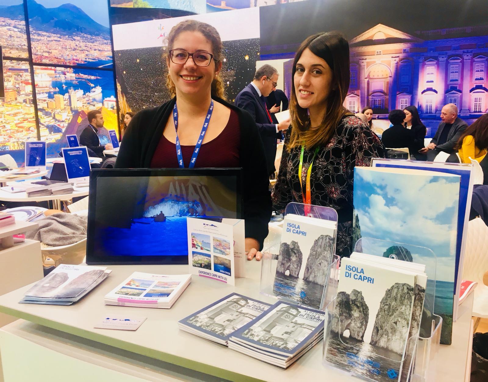 Capri Regina alla borsa del turismo in svolgimento a Madrid