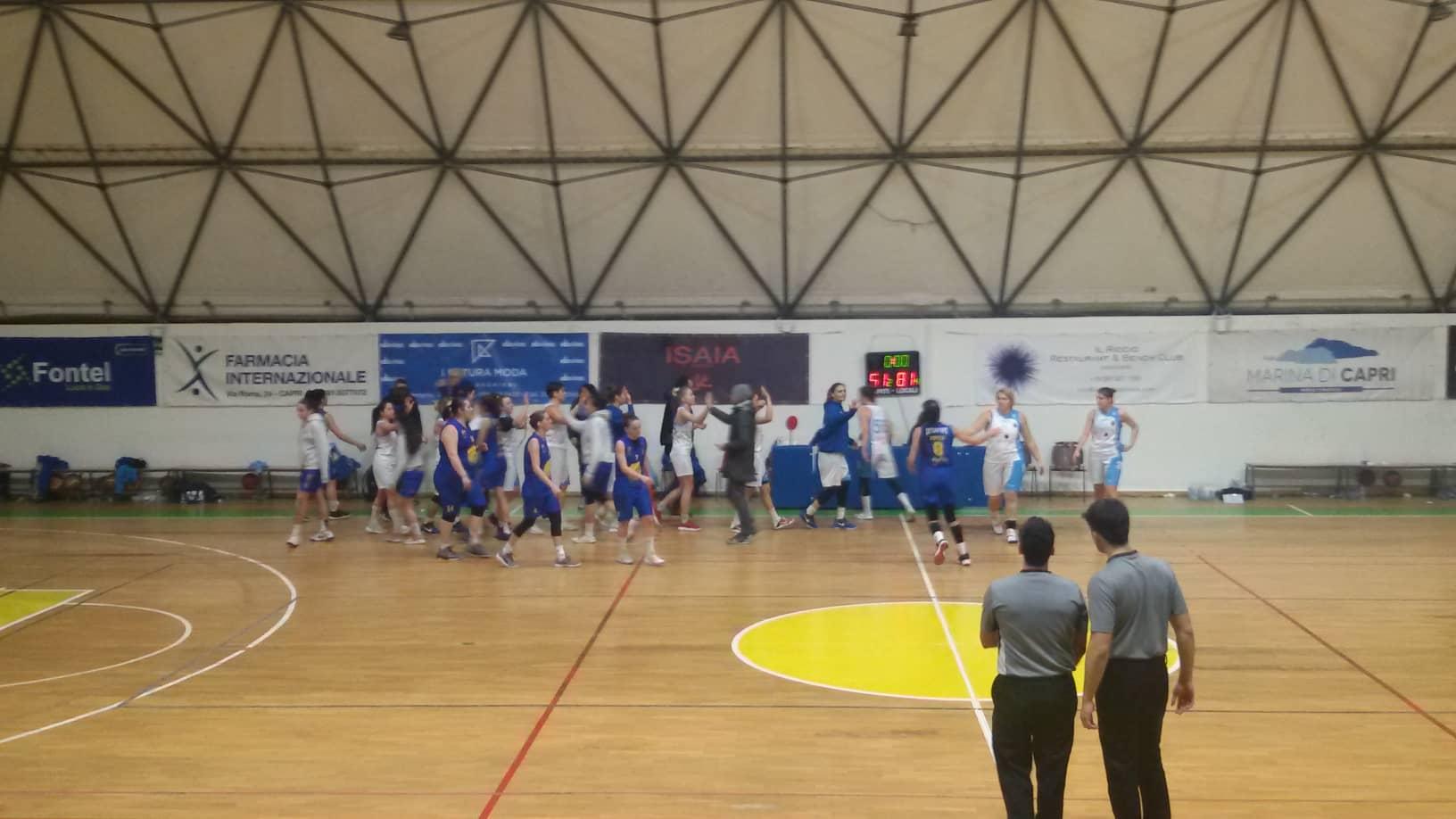 Basket: Strepitosa Vittoria per L'Olimpia Capri in rosa contro la JuveCaserta per 81-51