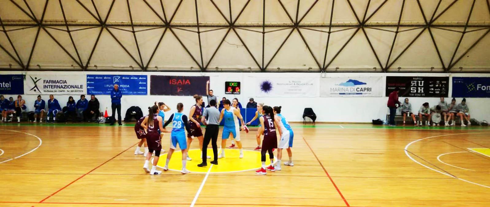 Vittoria Travolgente per L'Olimpia Capri in rosa 93-61 contro la Salerno Basket 92