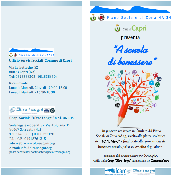 """Capri. """"A scuola di Benessere"""" il progetto finalizzato alla promozione del benessere sociale, fisico ed emotivo degli alunni"""
