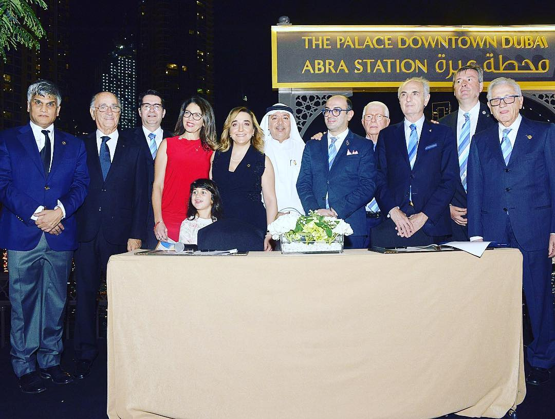 Il Rotary di Capri in visita al Rotary di Dubai, con una delegazione italiana