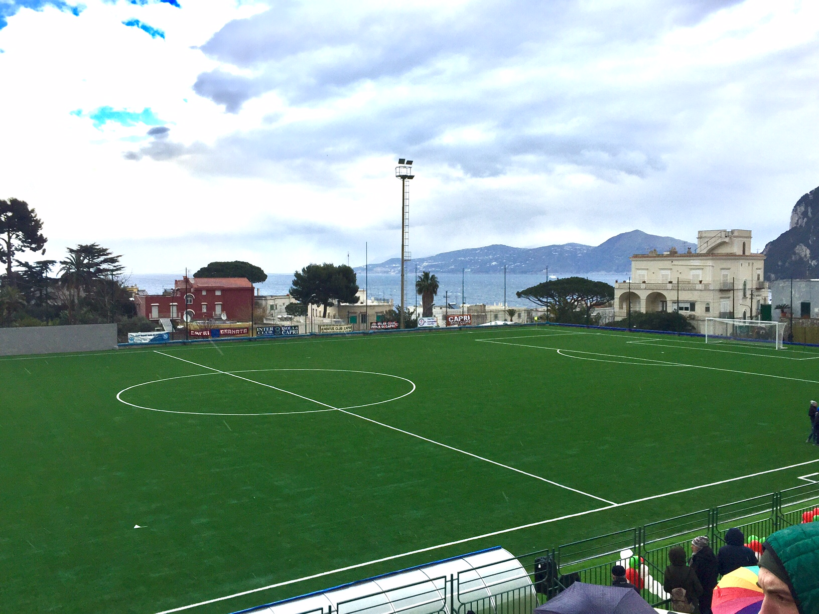 Capri. Inaugurazione del Campo di Calcio in esclusiva le prime immagini della cerimonia