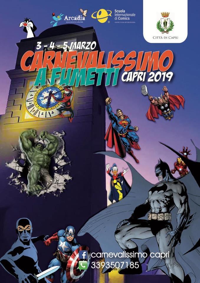 Capri. Al via il Carnevale della Città di Capri dedicato al mondo dei fumetti (PROGRAMMA)