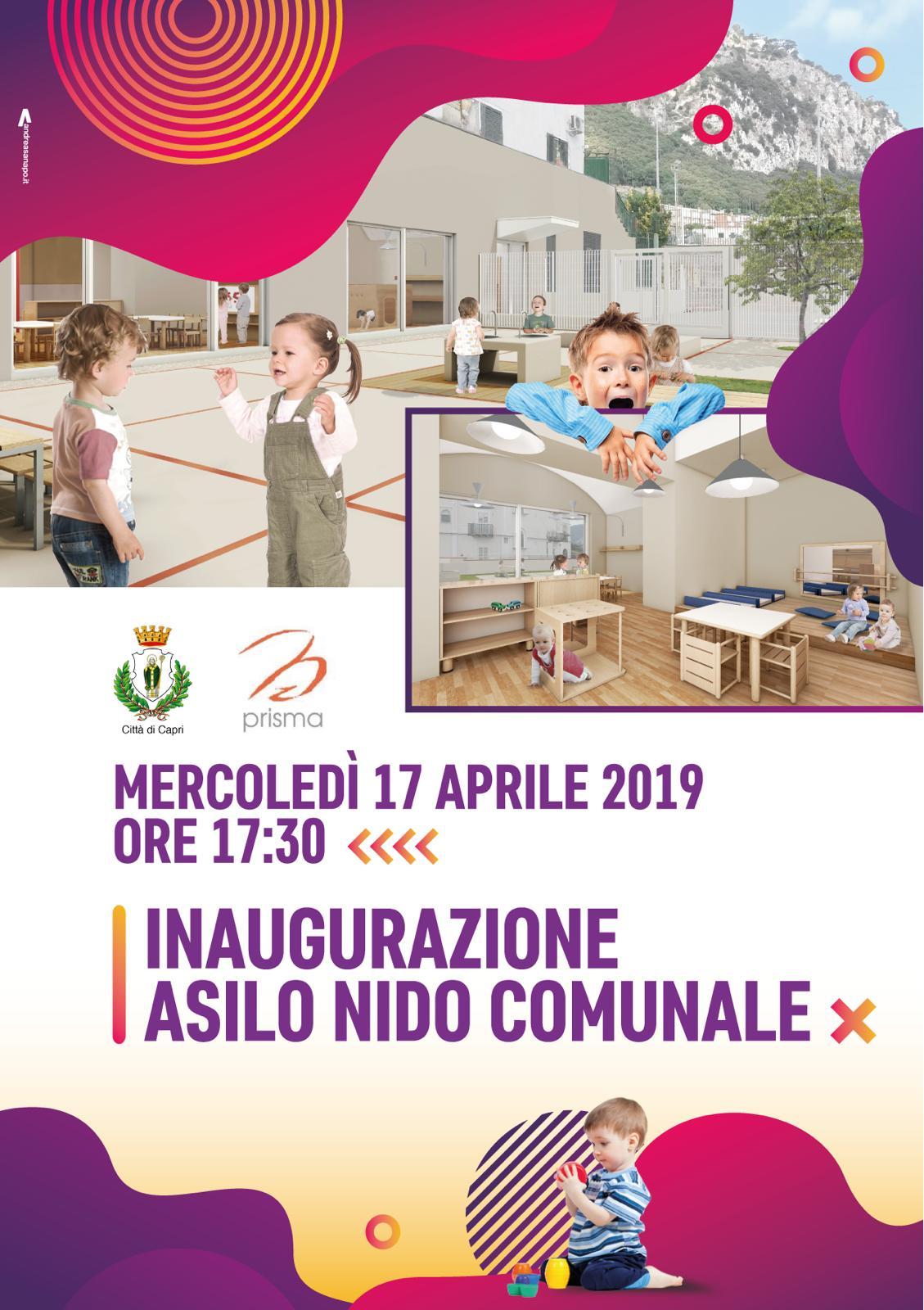 Capri. Si inaugura anche il nuovo asilo nido comunale, mercoledì 17 l'inaugurazione