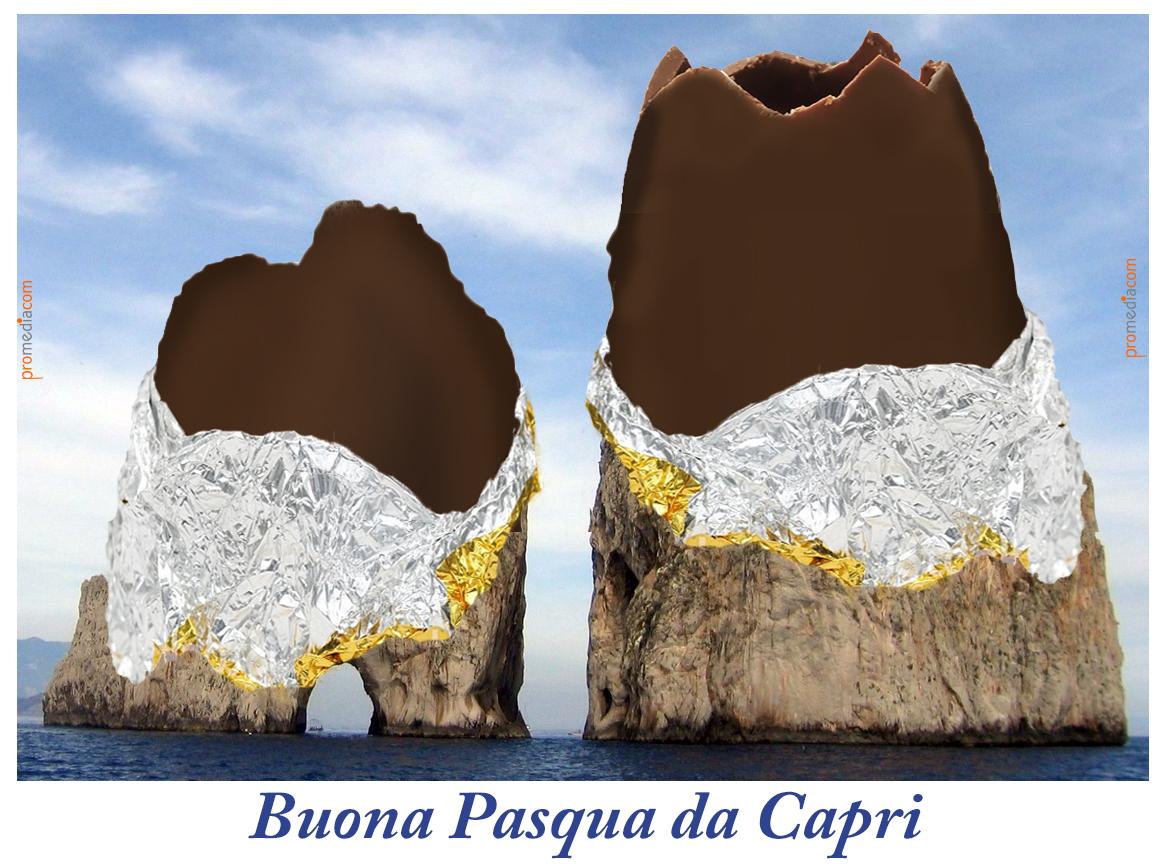 """"""" Buona Pasqua da Capri """" la Tradizionale Cartolina di Auguri del 2019 da Caprinotizie"""