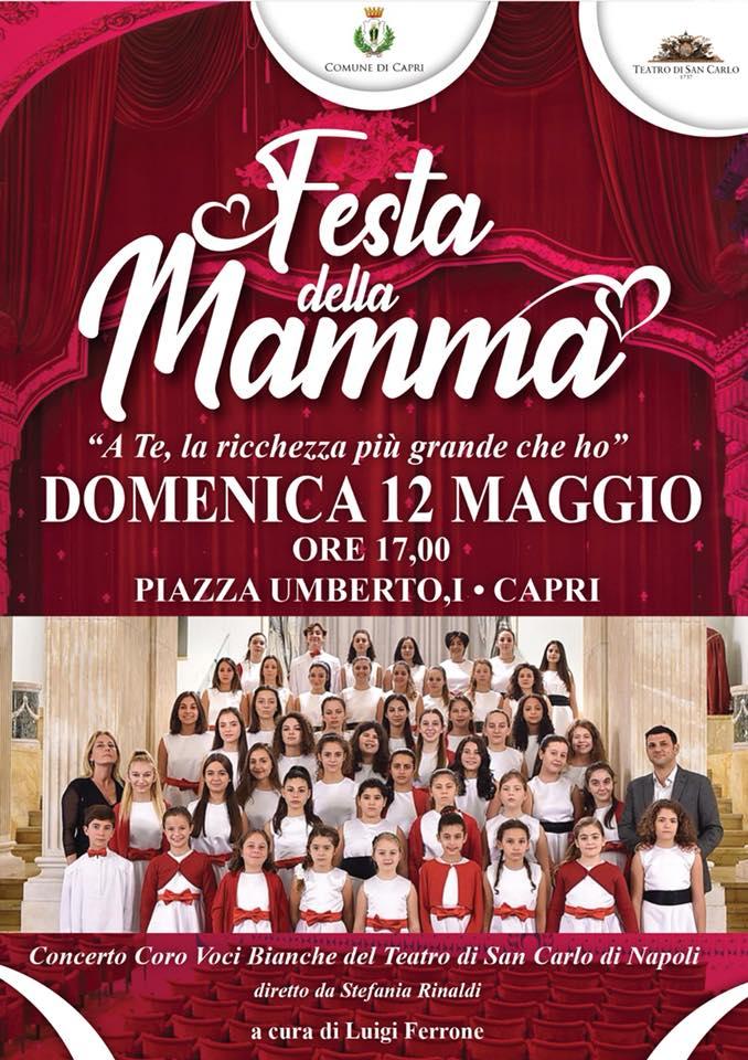 Capri. Si festeggia la Mamma con uno speciale Concerto delle voci bianche del Teatro San Carlo