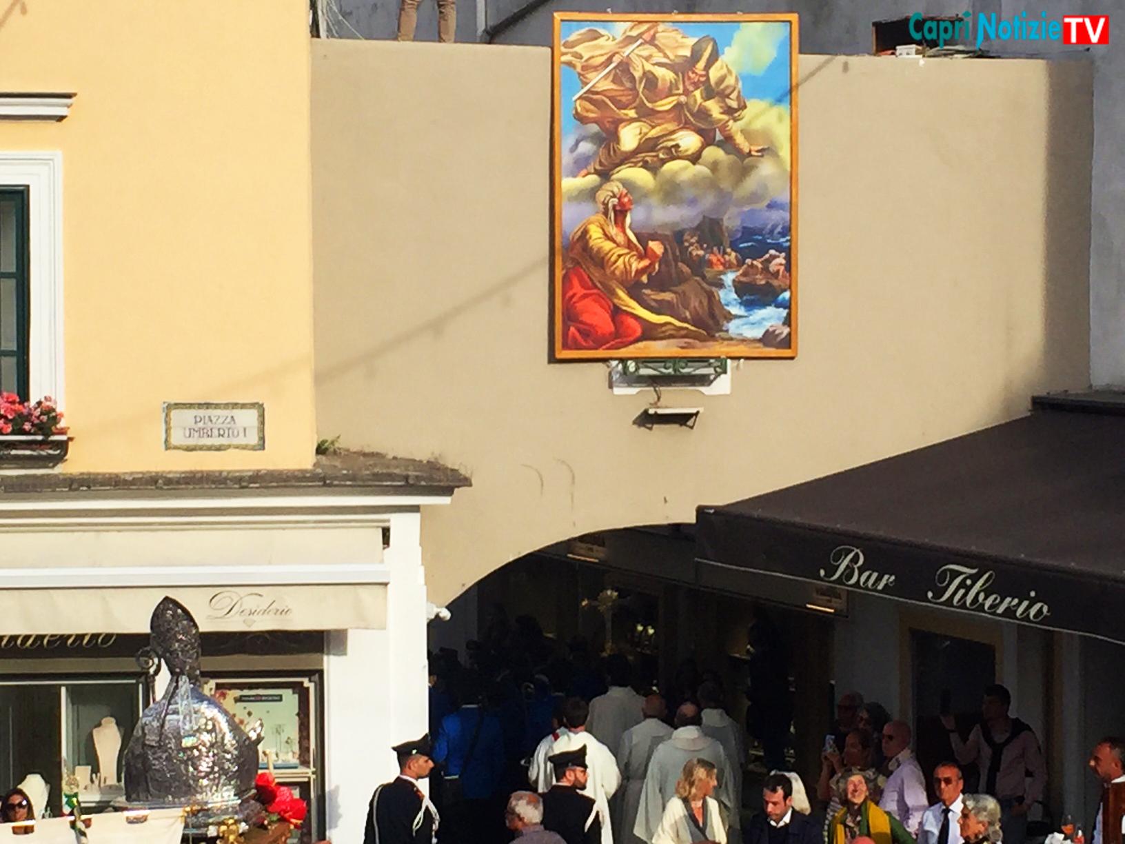 San Costanzo Patrono di Capri.  La tradizionale scoperta del Quadro che inaugura i festeggiamenti del 2019