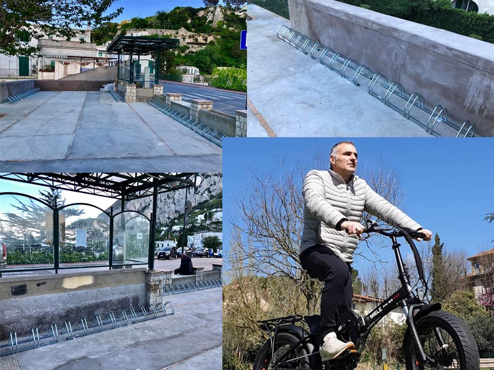 """Capri. Parcheggio per Bici e scelte Green:  Ciro Miele: """" Capri é un esempio Green da seguire"""""""