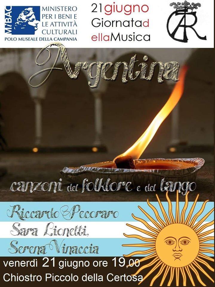 Capri Serenade alla Certosa di San Giacomo canta l'Argentina