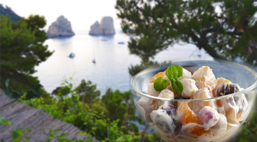 Da Capri la ricetta della Macedonia con vellutata di limone
