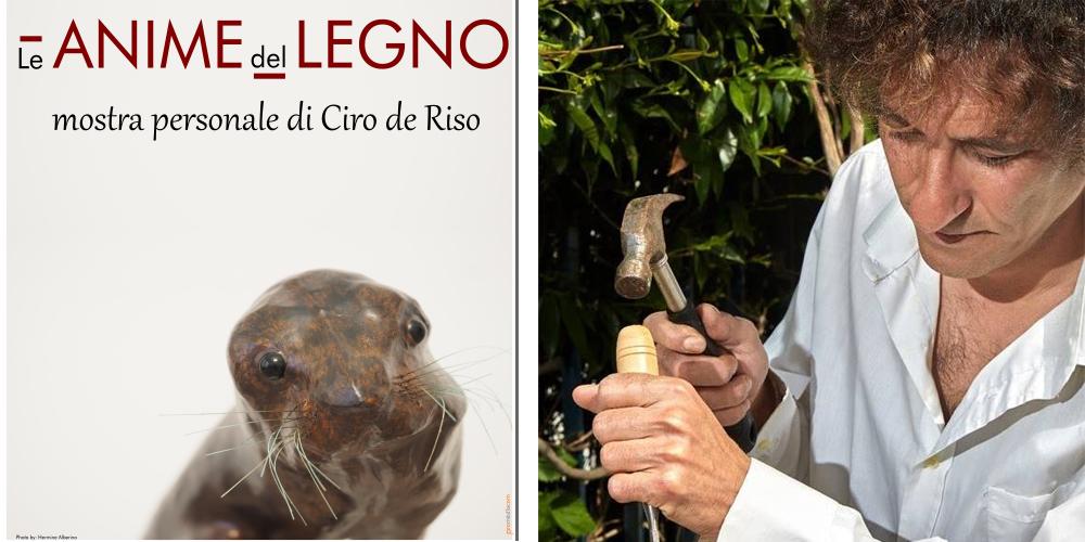 """Capri. """"Le Anime del Legno""""  in mostra le opere di Ciro de Riso, lo scultore dei """"Legni Naufragati"""""""