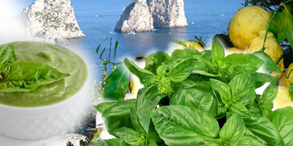 Da Capri. La Crema di Basilico, Mandorle  e Limoni