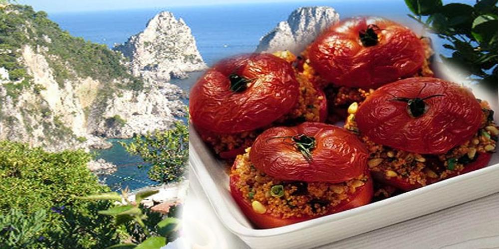 """Da Capri la Ricetta dei """"Pomodori Capresi Gratinati"""""""