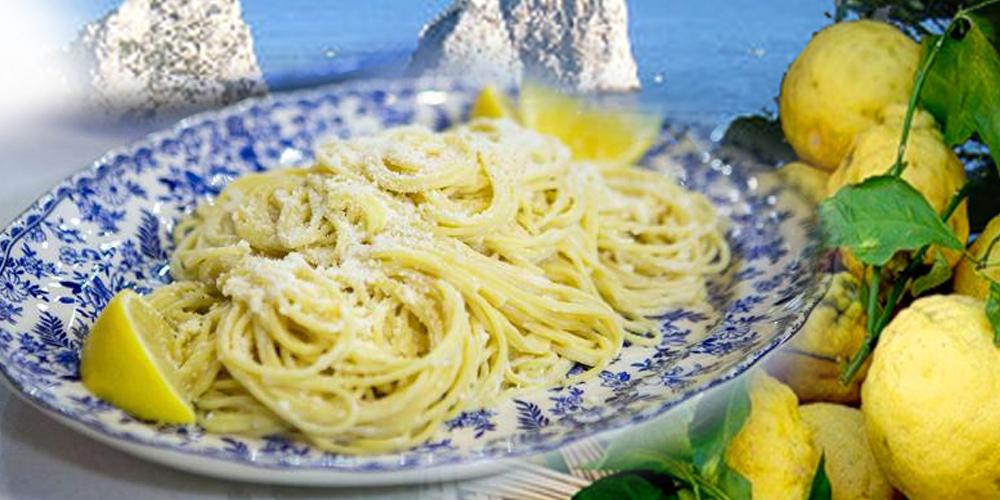Gli Spaghetti al Limone di Capri con Caciotta di Sorrento