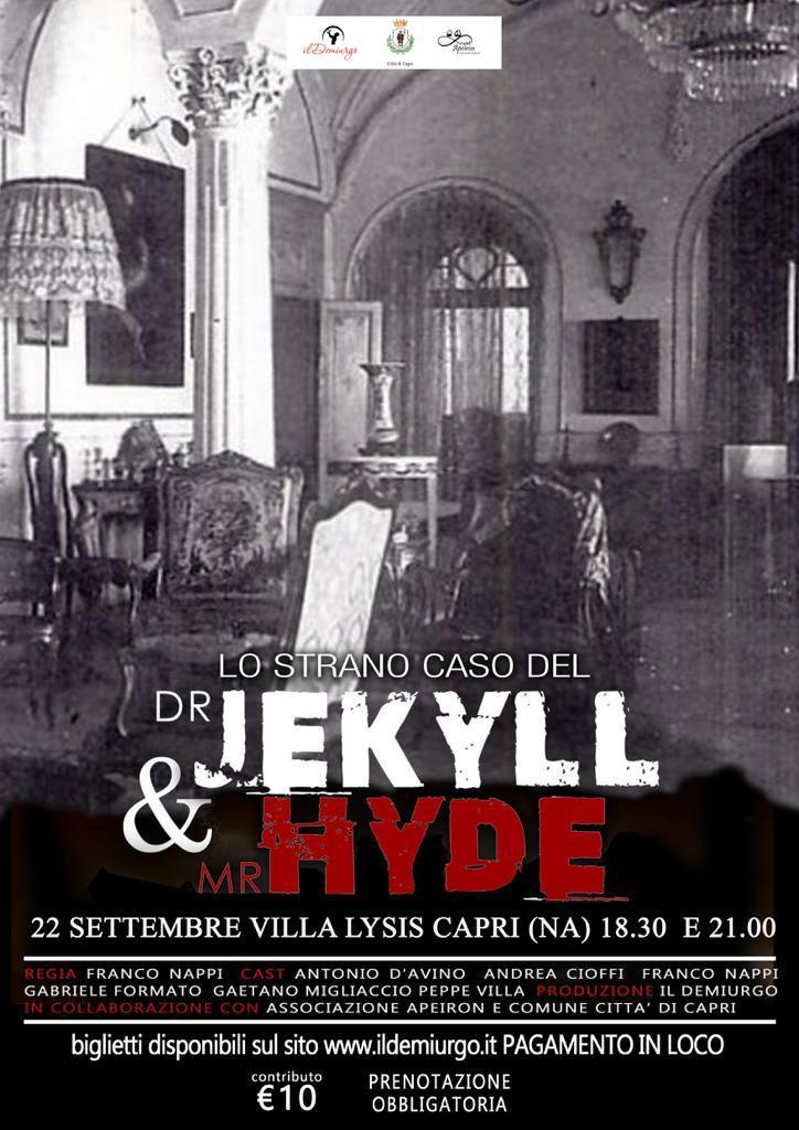 """Capri. In scena a Villa Lysis """" Lo strano caso del Dr Jekyll e Mr Hide"""""""