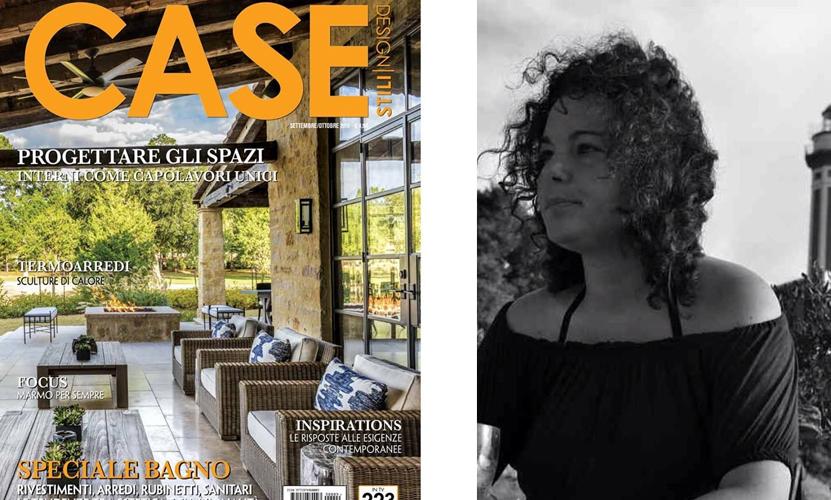 """Capri Protagonista nel nuovo numero di """"Case"""" con il progetto dell' arch. Marcella Canfora per Luxury Villa Excelsior Parco di Capri"""