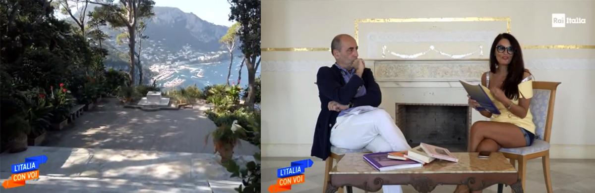 """Capri. Villa Lysis protagonista della trasmissione RAI """" Italia con Voi""""  ( Il Video della trasmissione)"""