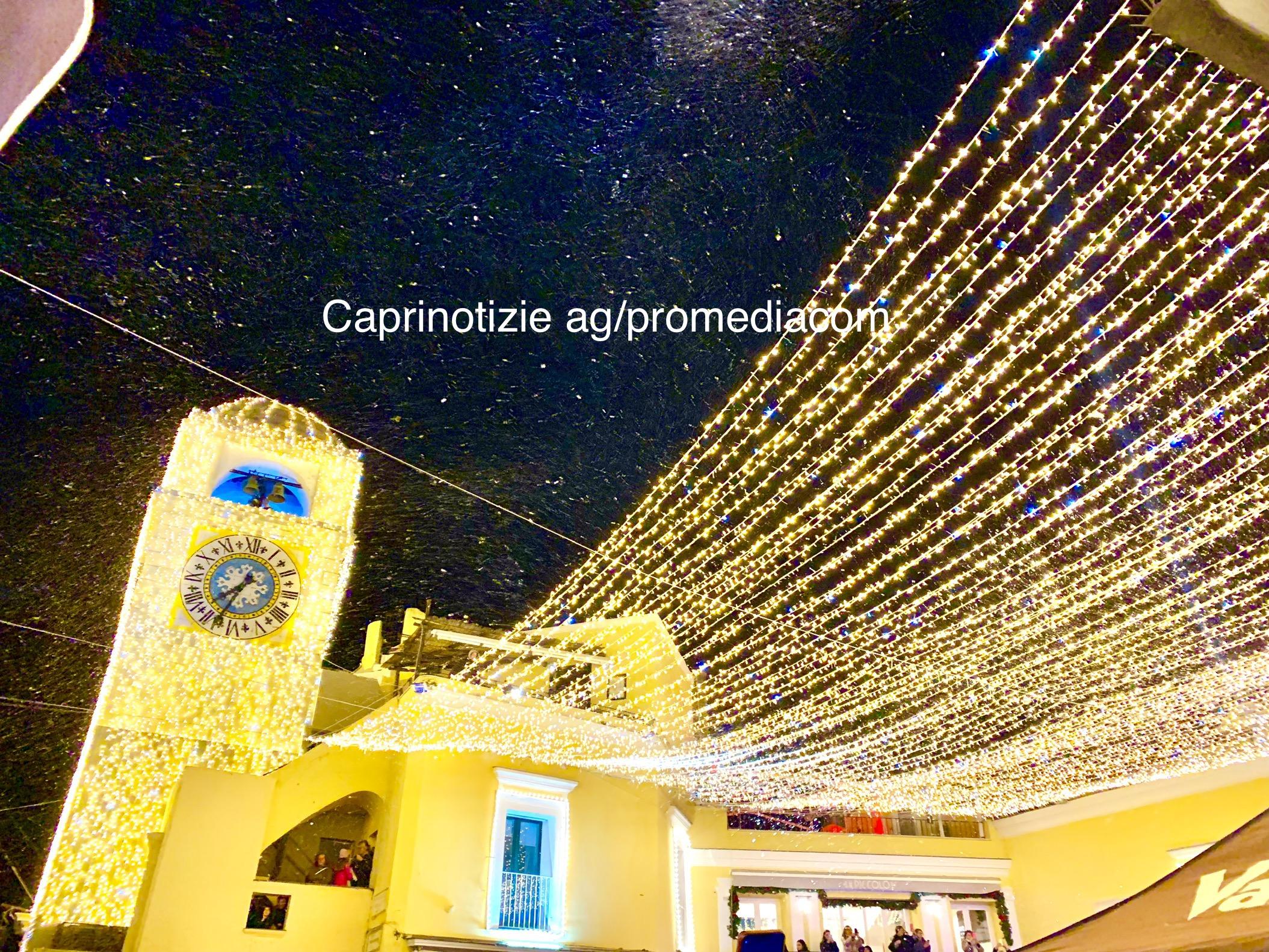Capri. L'accensione delle luci di Natale 2019
