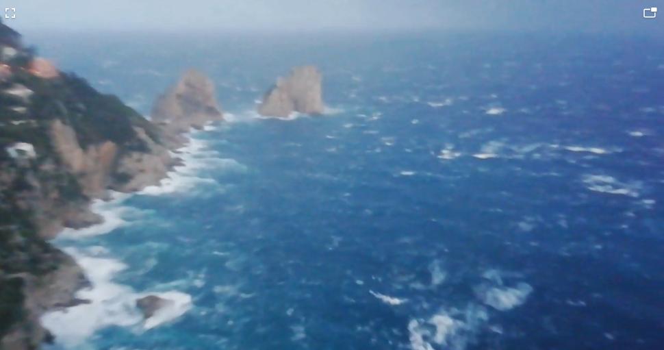 Maltempo a Capri. Mare agitato, Immagini e Video (IN AGGIORNAMENTO)