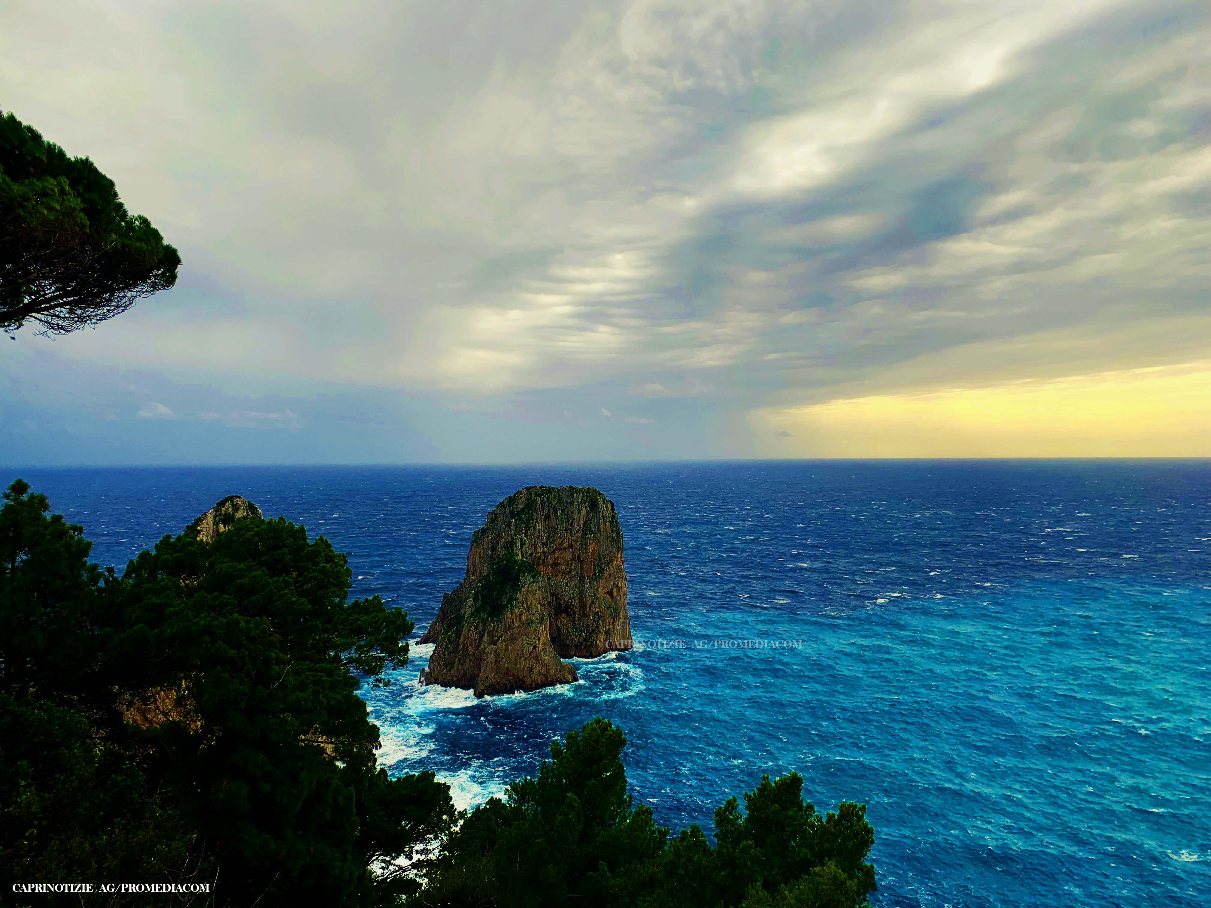 Capri colpita dalla Tempesta di Scirocco (VIDEO E SITUAZIONE  ATTUALE)