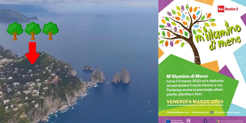 Capri. M'illumino di Meno, CapriNotizie e Promediacom partecipano alla giornata del risparmio energetico di Cartepillar di Rai Radio Due