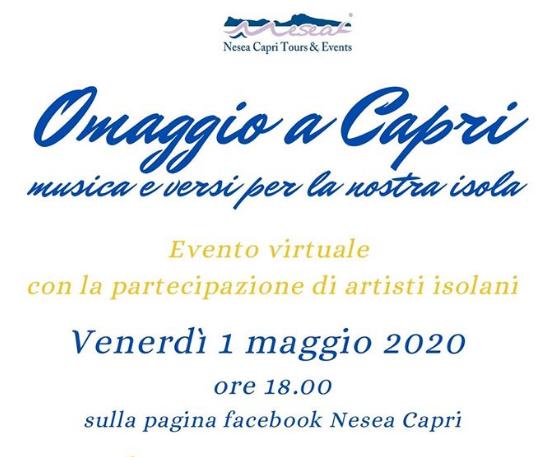 """Omaggio a Capri. """"Musica e versi"""" Tutto pronto per L'Evento Virtuale, con la partecipazione di artisti isolani"""