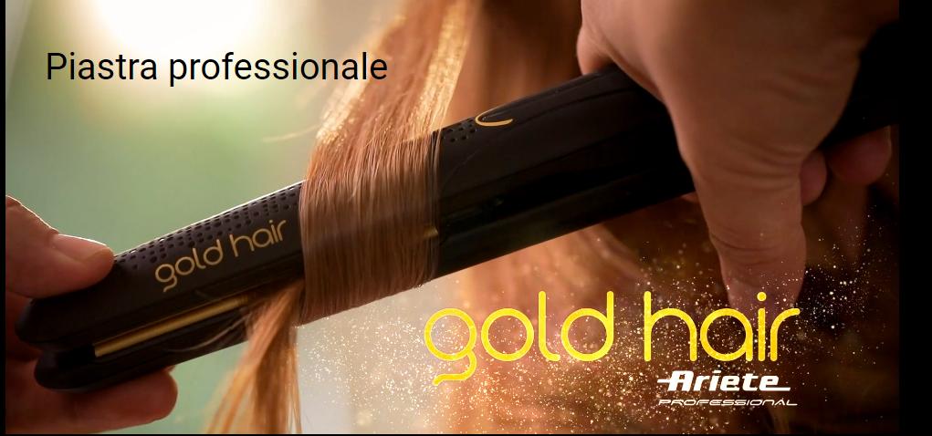 """Ariete presenta la nuova Piastra per Capelli Professionale """"Gold Hair"""""""