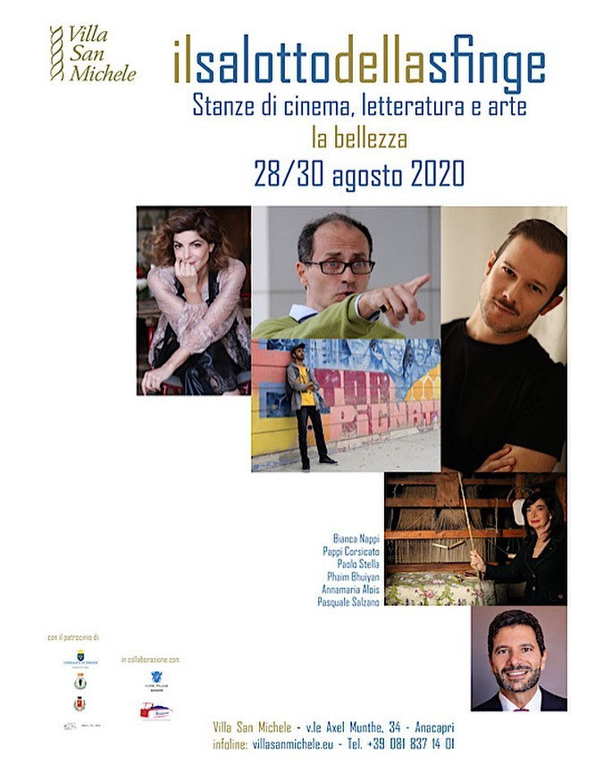 """Capri al via """"Il Salotto della Sfinge"""" stanze di Cinema, Letteratura e Arte a Villa San Michele dal 28 al 30 Agosto"""