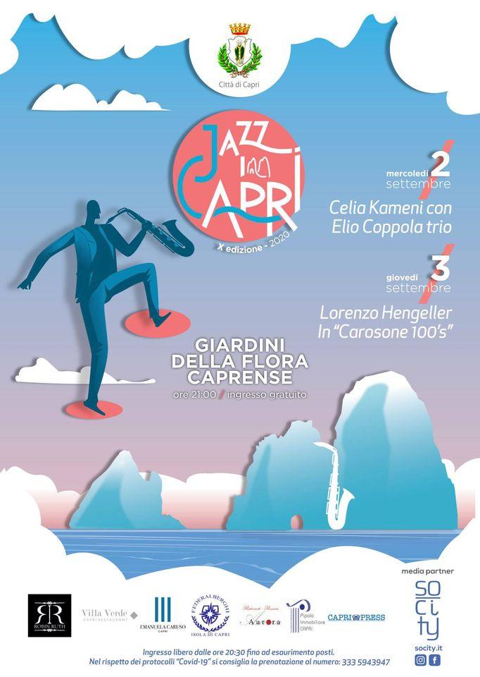 Jazz in Capri, in anteprima il Programma della decima edizione che si terrà a Capri il 2 e 3 Settembre