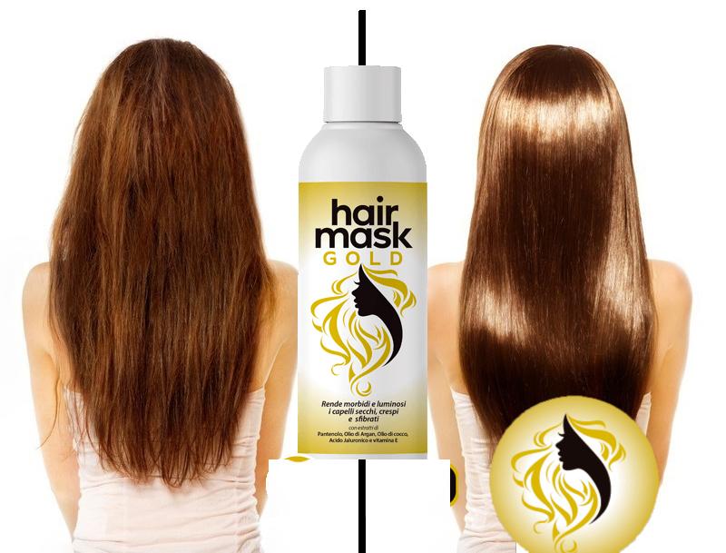 HAIR MASK GOLD ed i Capelli sono Nutriti e Brillanti in un solo Gesto