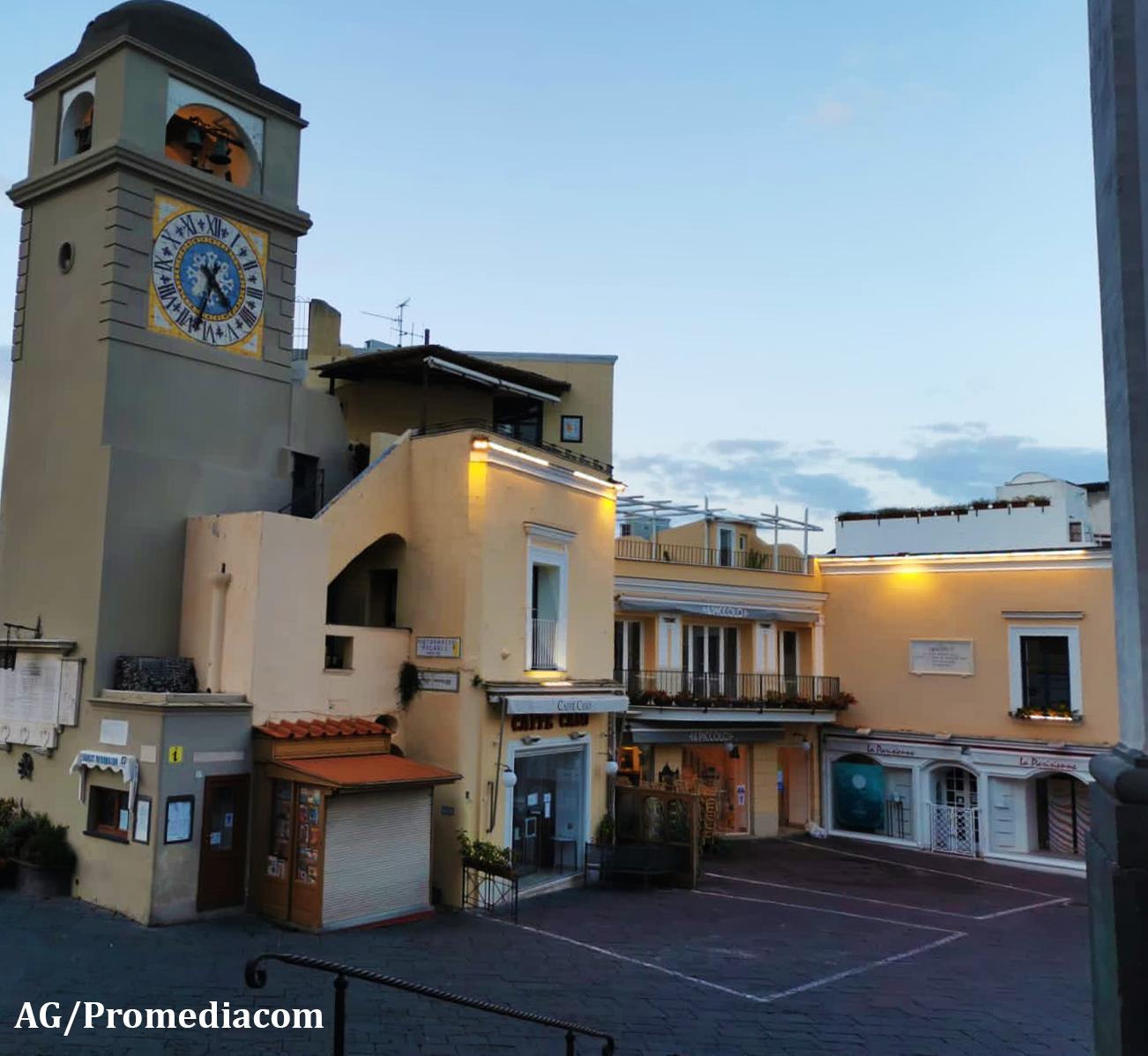"""Capri deserta nella prima domenica di """"Zona Rossa"""" (VIDEO)"""