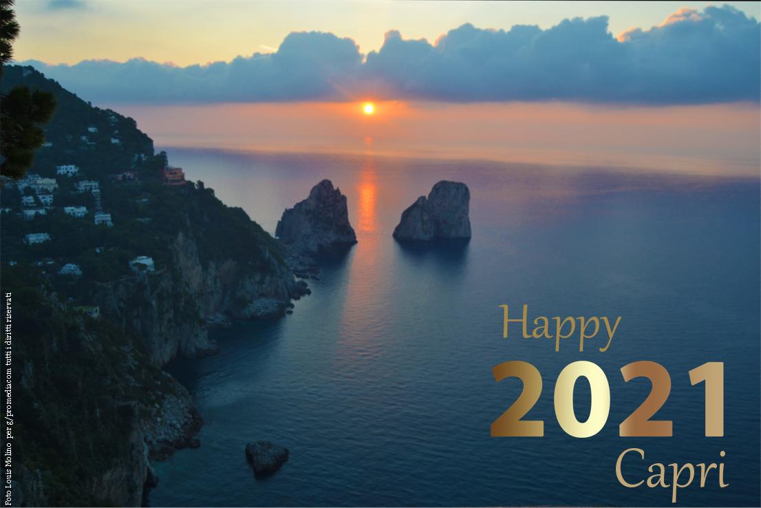Buon Anno da Capri, la Cartolina di auguri del 2021 da scaricare Gratis