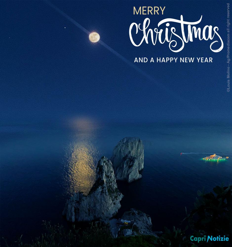 Buon Natale da Capri, La tradizionale cartolina di Auguri