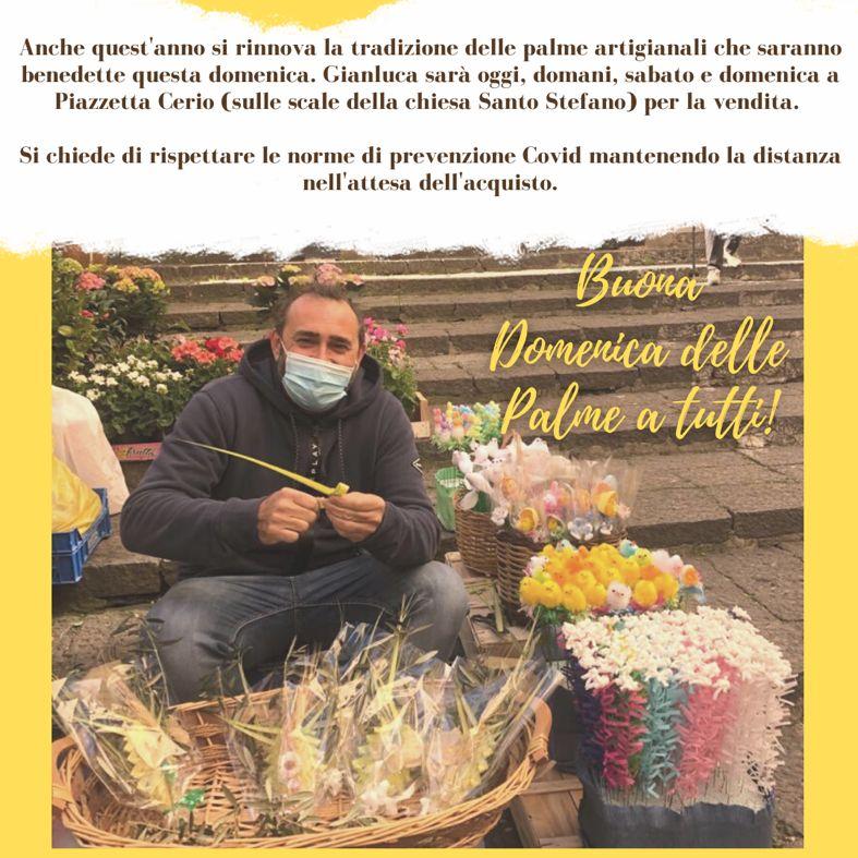 """Capri. Si rinovva la tradizione delle Palme Artigianali del maestro """"Gianluca Federico"""" in vendita in Piazzetta Cerio"""